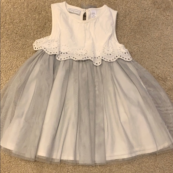 First Impressions Other - Gray & White Tulle Dress (18 months)